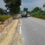 Pembangunan Badan Jalan Lintas Koto Gasib Minim Rambu Rambu , Berpotensi Laka Lantas
