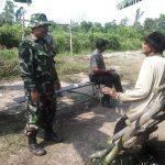 Babinsa Koramil 10 perawang Melaksanakan Pendamping CSB KT Semangat Bersatu  kampung Buatan Satu  Koto Gasib kabupaten siak