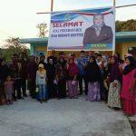 Komisi II DPRD Meranti Ibuk Darsini Meresmikan MCK Desa Meranti Bunting  Kecamatan  Merbau