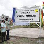 Resmikan Taman Syarifah Sembilan, Bupati Alfedri Terkenang Masa Lalu Di Sungai Apit