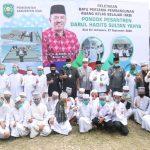Siak Cetak Sejarah, Bupati Alfedri Letakkan Batu Pertama Pembangunan Ruang Belajar Santri Darul Hadist Sultan Yahya, Ponpes Hadist Pertama di Riau