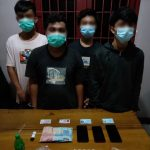 Apes…Lagi Asik Pesta Narkoba, Keempat Laki-laki Ini Diciduk Tim Gabungan