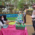 Hari ke 4 Tahun Baru 2021, Polsek Bagan Sinembah Berikan Himbauan Prokes di Tempat Wisata