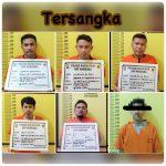 Transaksi Sabu 6 Tersangka dibekuk SatRes Narkoba Polres Rohil di Ujung Tanjung