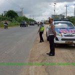 Giat Rutin, Satlantas Polsek Bagan Sinembah Patroli Antisipasi Laka di Daerah Rawan