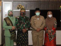 Alfedri Sambut kunjungan Kasdam I/BB ke Kabupaten Siak.