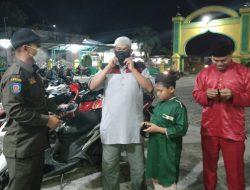 Masyarakat Sambut Baik Penegakan Prokes di Kecamatan Siak Kecil pada Malam ke 3 Ramadhan