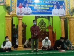 Camat Bukit Batu dan Kepala Desa Pangkalan Jambi Sambut Kedatangan Bupati Bengkalis Beserta Rombongan pada Acara Safari Ramadhan 1442 H