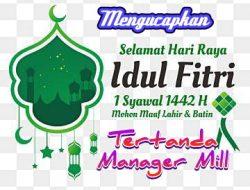 Manager Dan Karyawan PT.SPS Mengucapkan Selamat Hari Raya Idul Fitri 1442 .H.Mohon Maaf Lahir dan Bathin